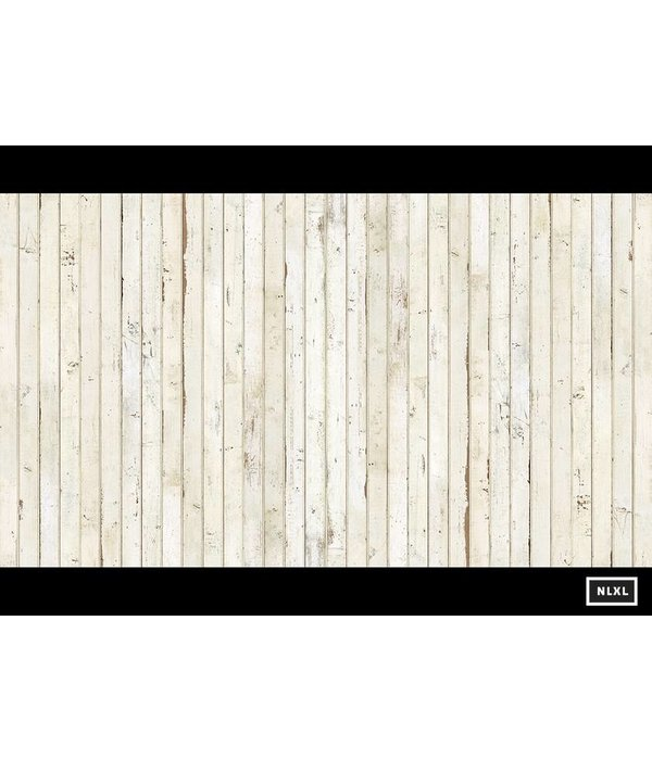 Piet Hein Eek Behang Piet Hein Eek - smalle planken wit Wallpaper