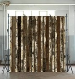 Piet Hein Eek Behang Piet Hein Eek - verweerde planken donker bruin naturel wit Wallpaper