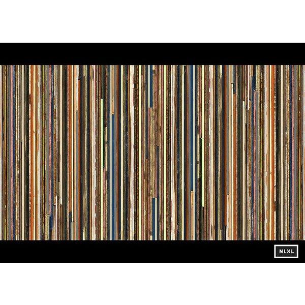Behang Piet Hein Eek - smalle planken multi-colour