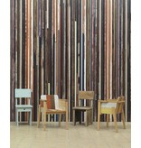 Piet Hein Eek Behang Piet Hein Eek - smalle planken multi-colour Wallpaper
