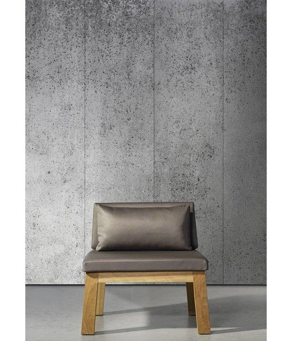 Piet-Boon brede warm grijze platen beton CON-04 Behang