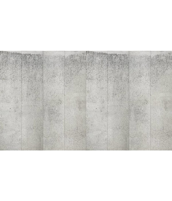 Piet-Boon Behang Piet Boon - brede warm grijze platen beton Wallpaper