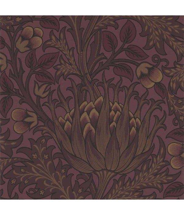 Morris-Co Artichoke - Wine Wallpaper