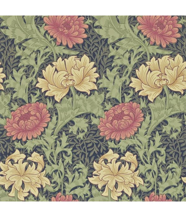 Morris-Co Chrysanthemum Indigo 212549