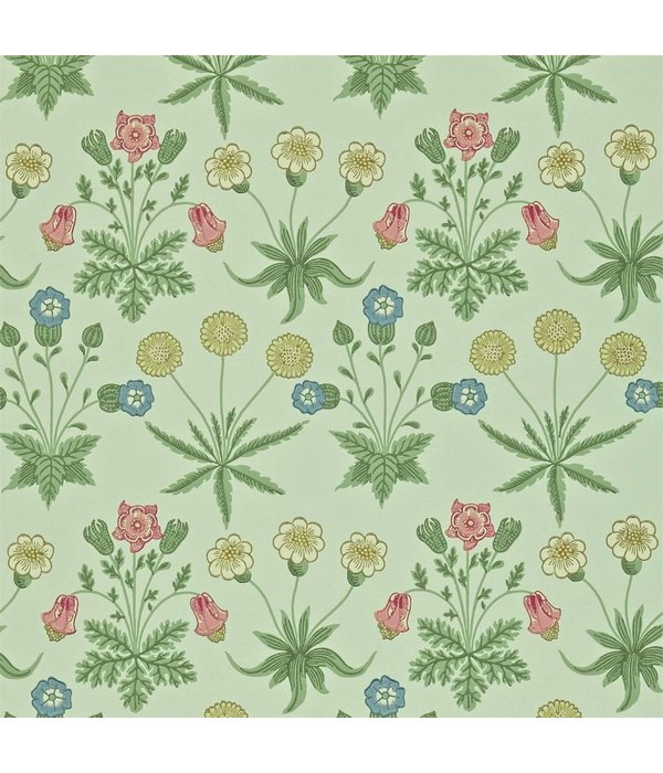 Morris-Co Daisy Pale Green/Rose 212559