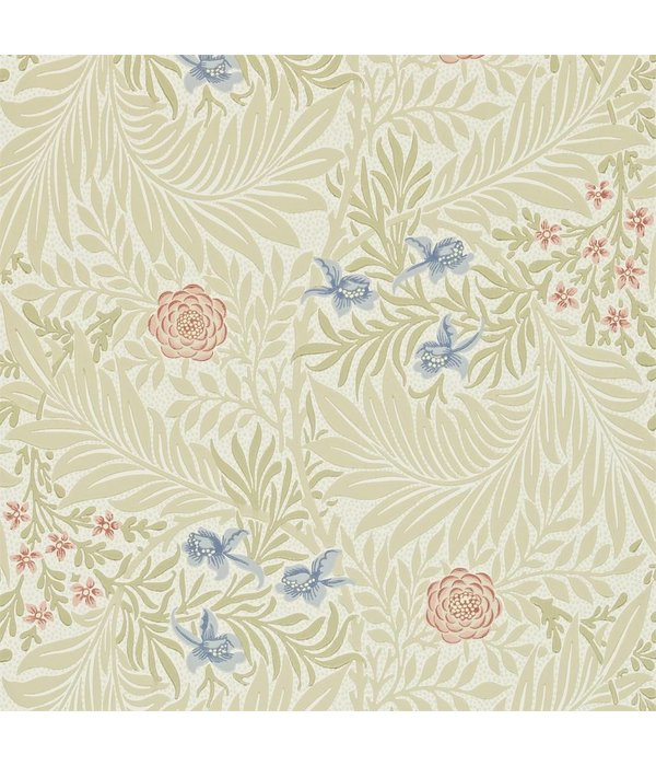 Morris-Co Larkspur - Manilla/Old Rose WallpaperLarkspur - Manilla/Old Rose DARW-212557