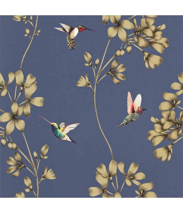 Harlequin Amazilia Indigo (Blauw, Goud) 111059 Wallpaper