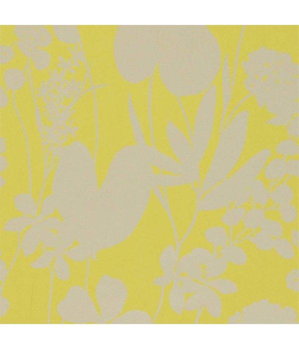 Harlequin Nalina Zest (Geel Met Glinsterend (!) Goud) 111050 Behang