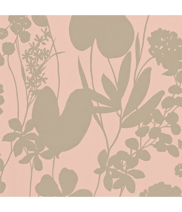 Harlequin Nalina Peach (Glinsterend (!) Goud, Zacht Oranje) 111051 Behang