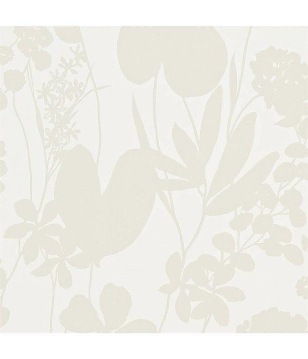 Nalina peral wit en glinsterend goud 111053 de mooiste muren - Behang zwart en goud ...