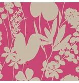 Harlequin Nalina Flamingo (Roze, Glinsterend Goud) 111048 Behang