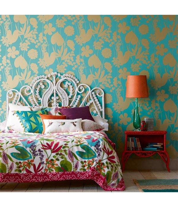 Harlequin Nalina Flamingo (Roze, Glinsterend Goud) 111048 Wallpaper
