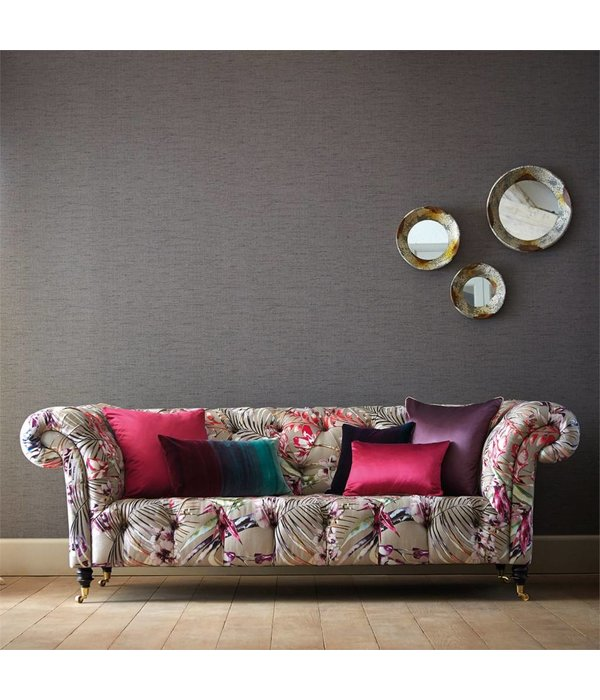 Harlequin Raya Pebble (Grijs) 111037 Wallpaper