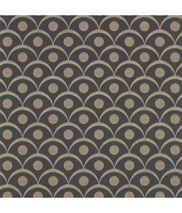 Harlequin Demi Onyx (Antraciet Grijs) 110616 Wallpaper