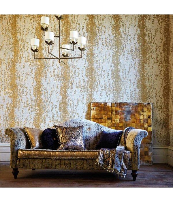 Harlequin Eglomise Onyx (Antraciet, Goud) 110624 Behang