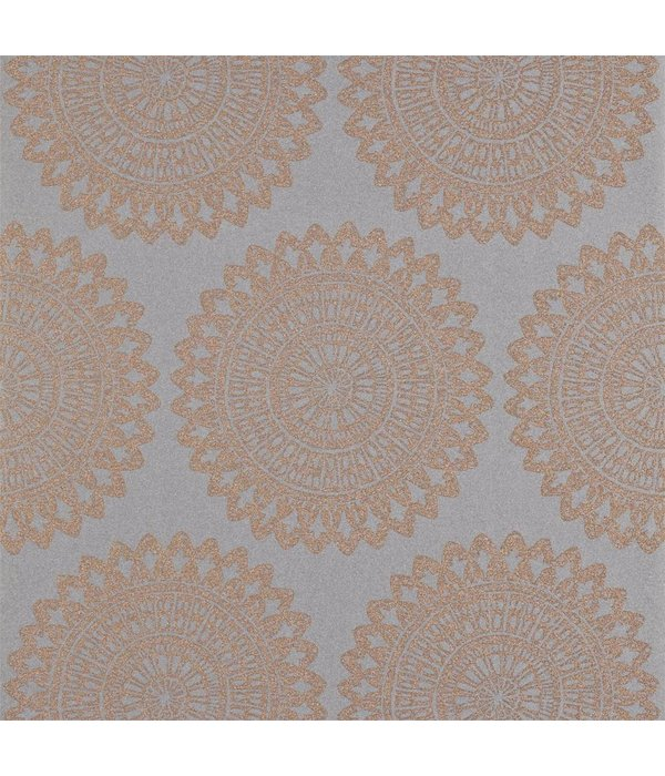Harlequin Medina Titanium (Grijs, Goud) 110628 Wallpaper