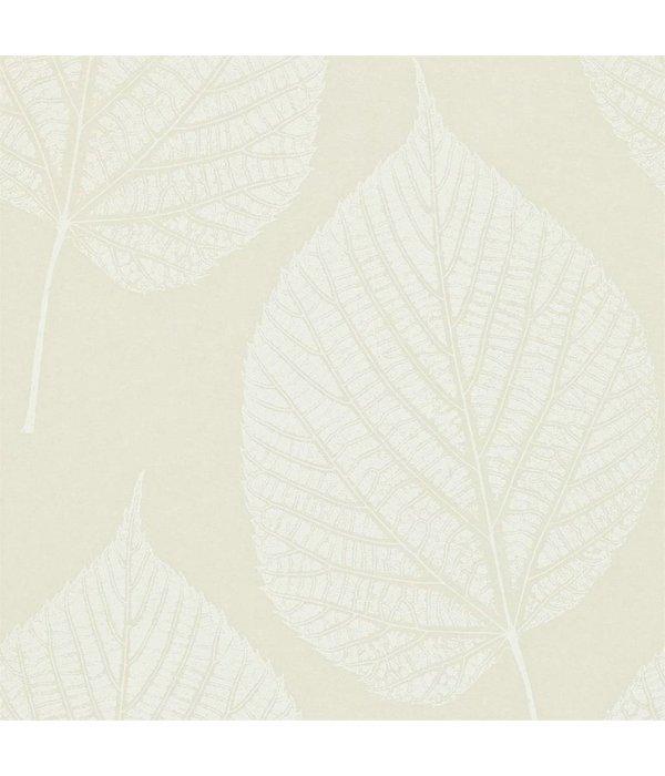 Harlequin Leaf Wit, Beige 110369 Behang