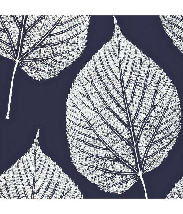 Harlequin Leaf Wit, Blauw 110371 Behang