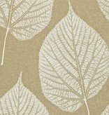 Harlequin Leaf Wit, Goud 110370 Behang