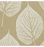 Harlequin Leaf Wit, Goud 110370 Wallpaper