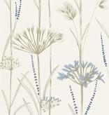 Harlequin Gardinum Kalk Wit, Blauw, Goud 110557 Behang