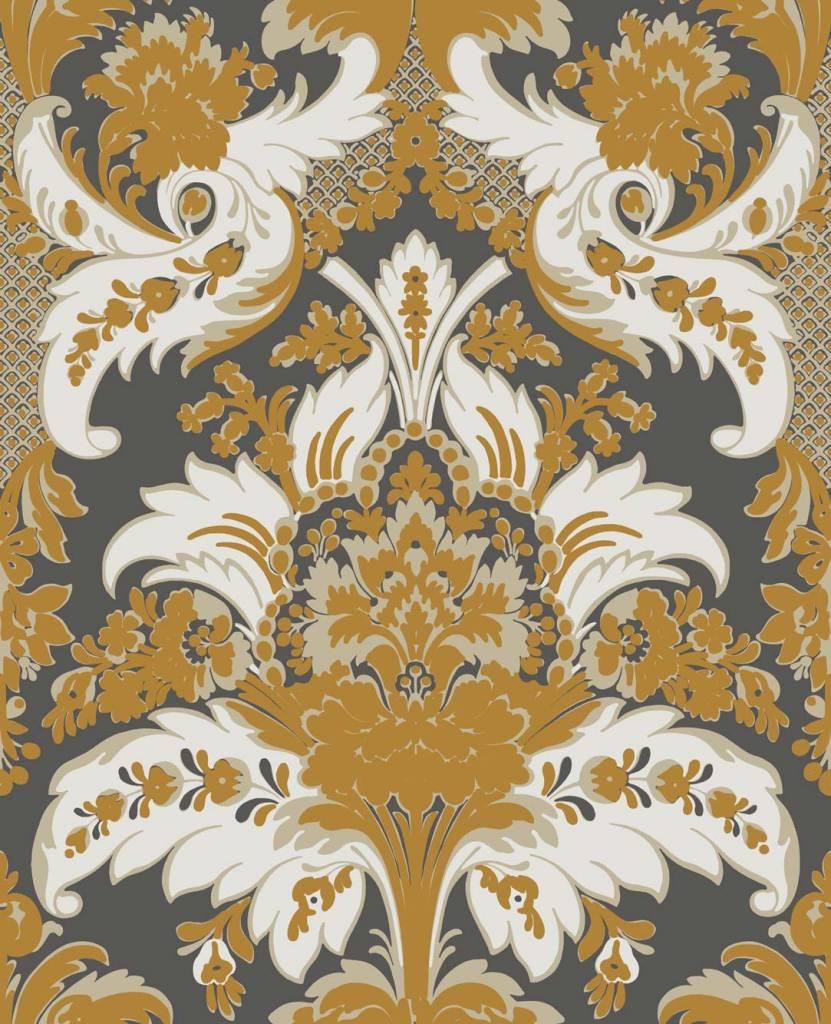 Aldwych goud zwart 94 5027 de mooiste muren - Behang zwart en goud ...