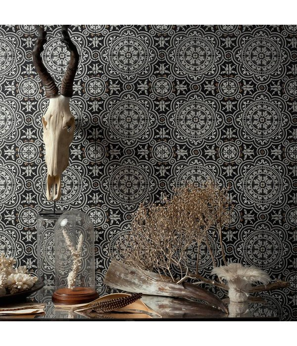 Cole-Son Piccadilly Zwart Wit 94/8045 Wallpaper