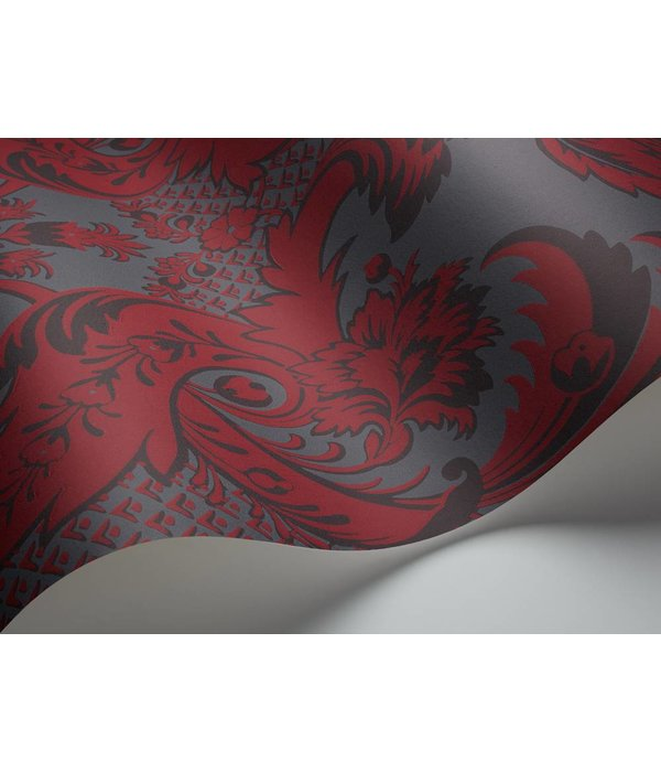 Cole-Son Wyndham DonkerGrijs Rood 94/3018 Wallpaper