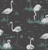Cole-Son Flamingos DonkerGrijs 95/8048 Behang