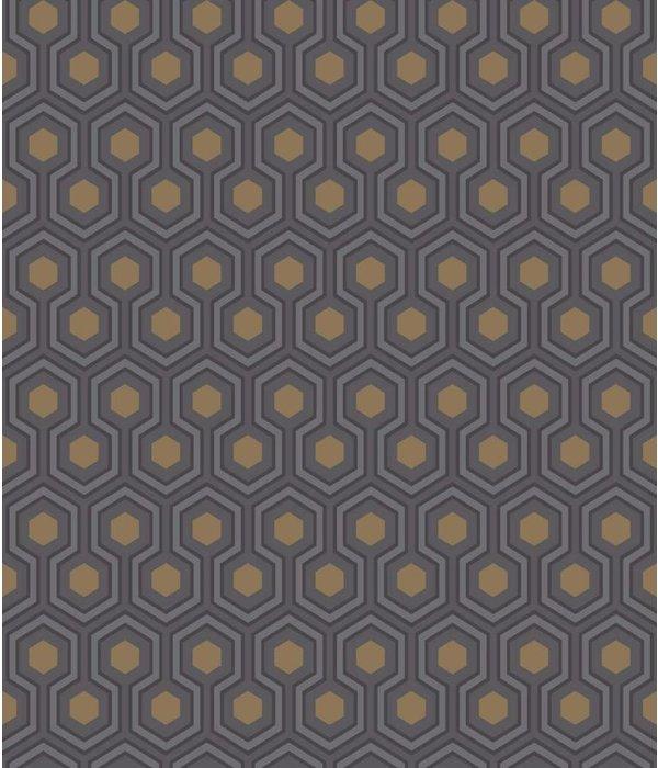 Cole-Son Hicks' Hexagon Donkergrijs 95/3015 Wallpaper