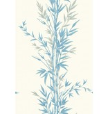 Cole-Son Bamboo Ivoor Wit, Blauw (Blue On Ivory) 100/5022 Behang