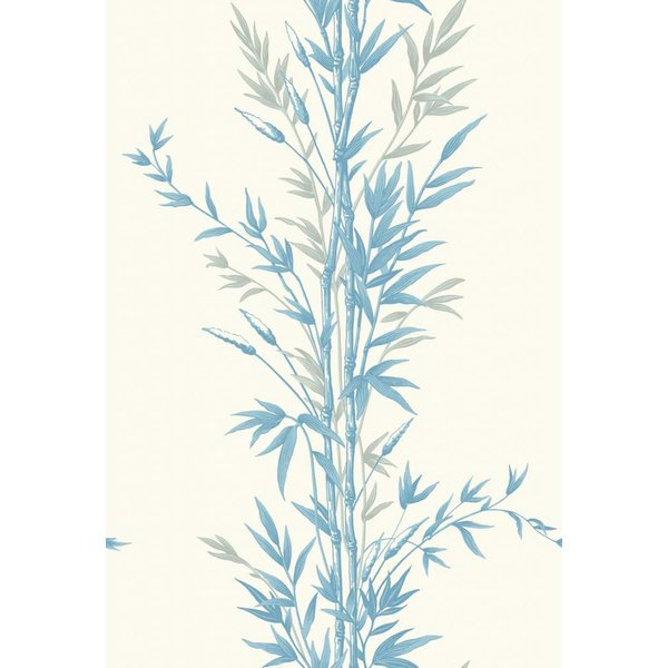 Bamboo Ivoor Wit, Blauw (Blue On Ivory) 100/5022