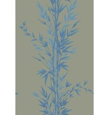 Cole-Son Bamboo Beige En Blauw (Blue On Khaki) 100/5026 Behang