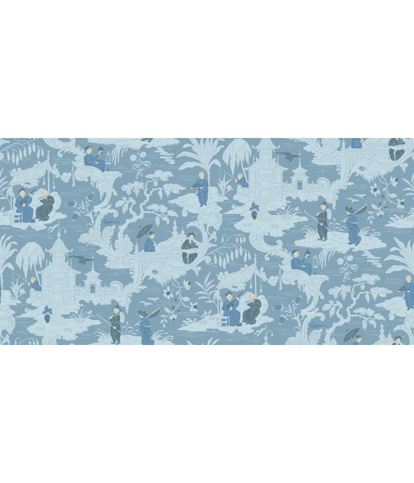 Cole-Son Chinese Toile Blue (Blauw) 100/8038 Wallpaper
