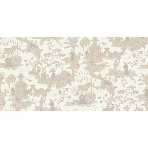 Chinese Toile Neutral (Beige, Wit) 100/8039
