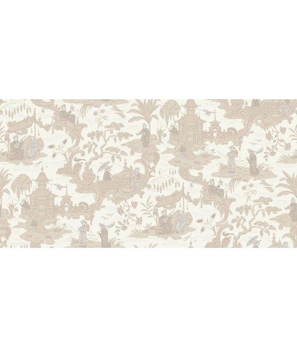 Cole-Son Chinese Toile Neutral (Beige, Wit) 100/8039 Wallpaper