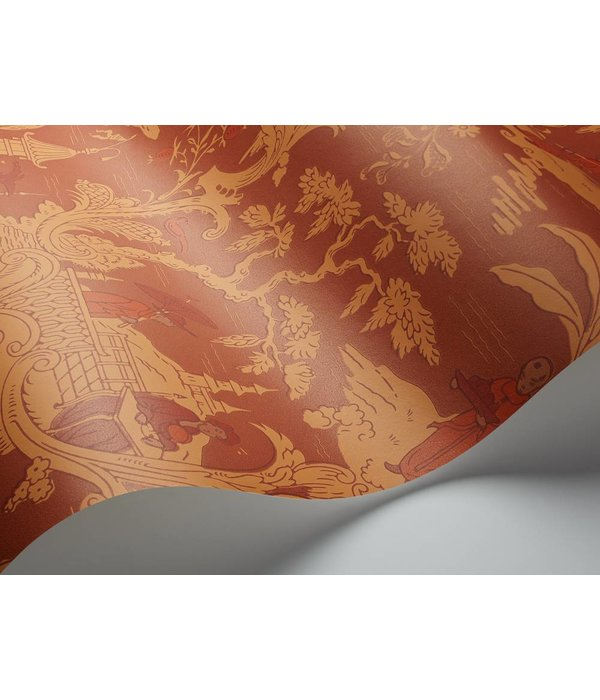 Cole-Son Chinese Toile Red (Rood, Oranje) 100/8041 Behang