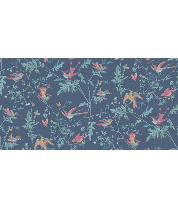 Cole-Son Hummingbirds Indigo, Multicolor 100/14068 Wallpaper