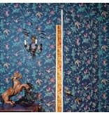 Cole-Son Hummingbirds Blue, Multicolor (Blauwe Achtergrond) 100/14069 Behang