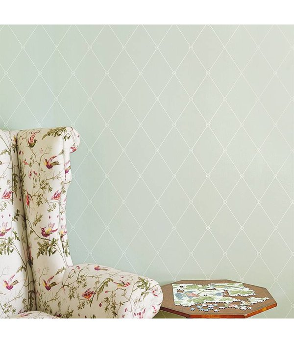 Cole-Son Large Georgian Rope Trellis Ivory (Ivoor Wit) 100/13060 Wallpaper