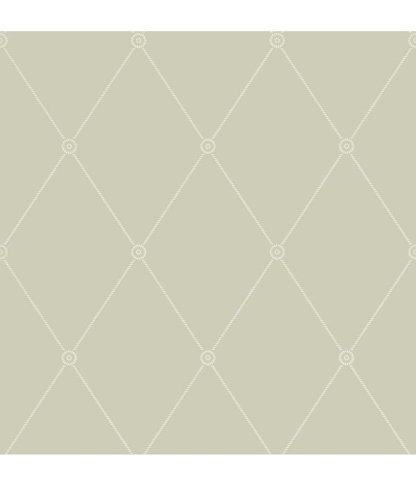 Cole-Son Large Georgian Rope Trellis Olive (Groen) 100/13065 Wallpaper