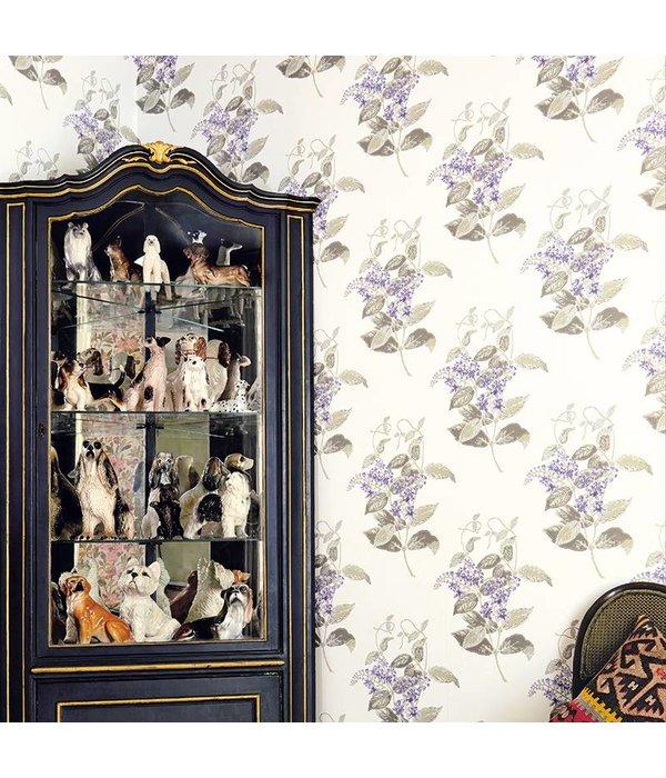 Cole-Son Madras Violet Violet, Grey (Wit, Groen, Grijs, Lila) 100/12057 Wallpaper