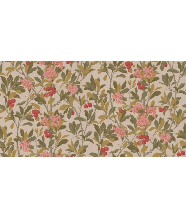 Cole-Son Strawberry Tree Pink, Linen (Roze, Beige) 100/10047 Behang