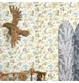 Cole-Son Winter Birds Geel, Grijs 100/2008 Behang