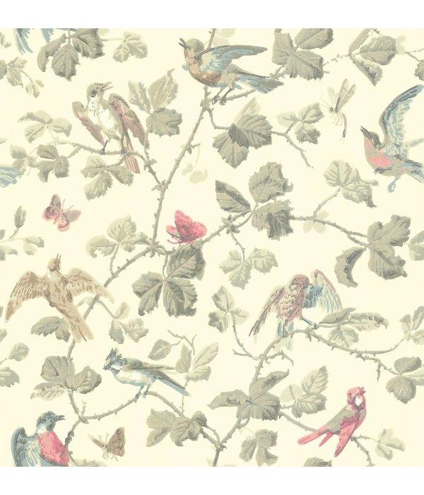 Cole-Son Winter Birds Linen (Linnen Wit) 100/2009 Wallpaper