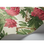 Cole-Son Bourlie Off White, Coral Rood 99/4019 Wallpaper
