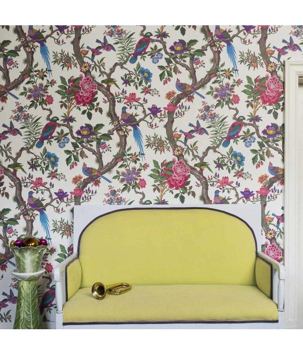 Cole-Son Fontainebleau Witte Achtergrondkleur, Groen, 99/12050 Wallpaper