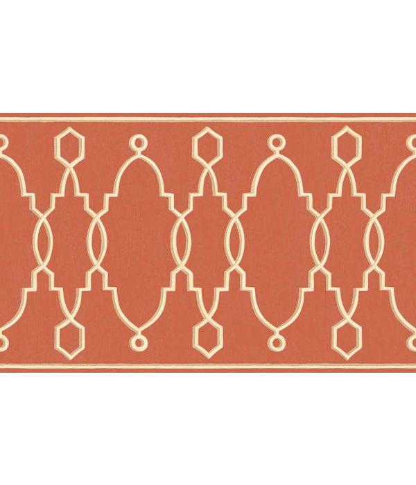 Cole-Son Parterre Border Classic Red 99/3018 Wallpaper