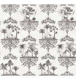 Cole-Son Rousseau Soft Charcoal, Grijs, Wit 99/9039 Wallpaper