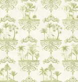 Cole-Son Rousseau Old Olive, Groen, Wit 99/9040 Wallpaper